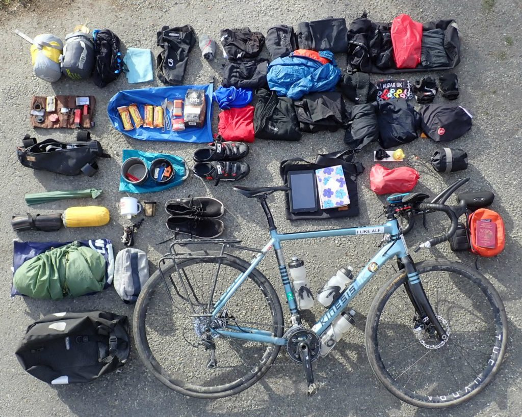 Equipment to cycle round the world