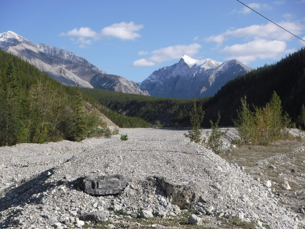 The old Alaska Highway, left to deteriorate