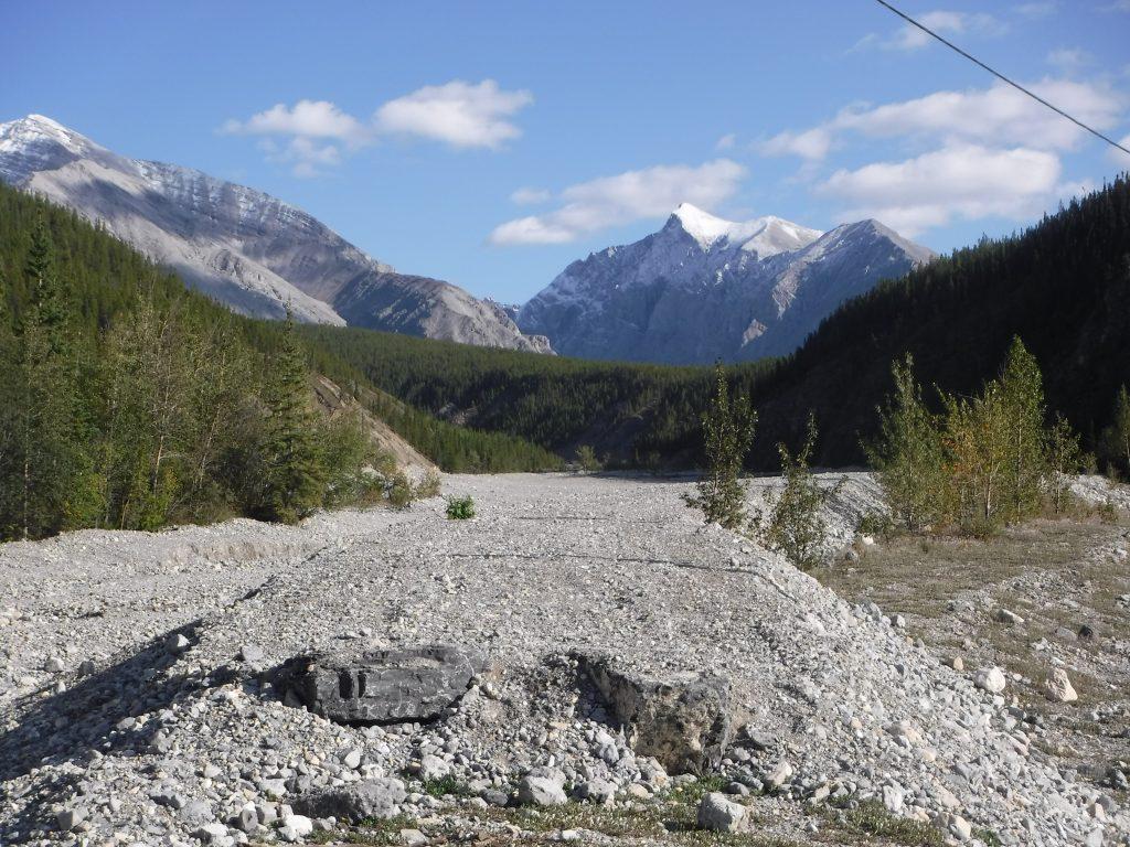 The old Alaska Highway, left to deteriorate