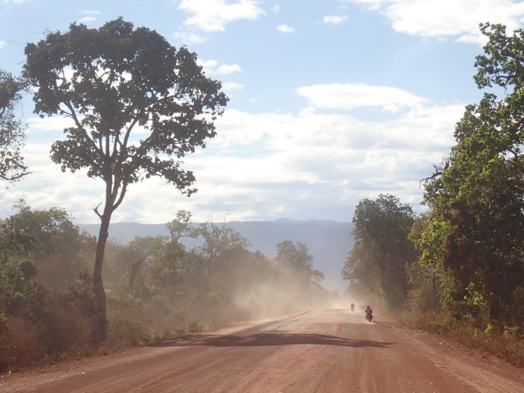 Dusty Laos Road