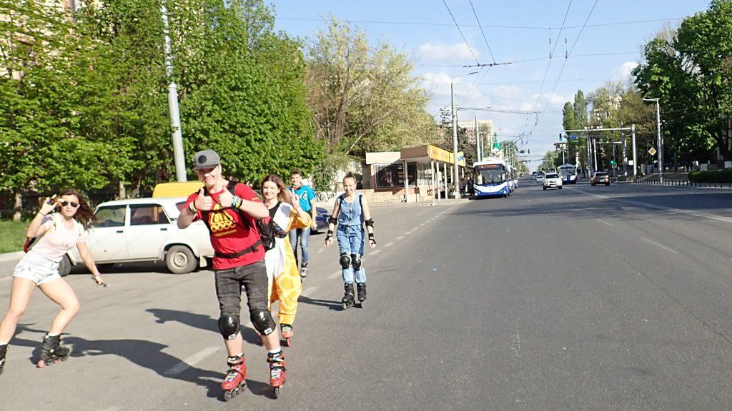 Rollerblading in Chisinau Moldova